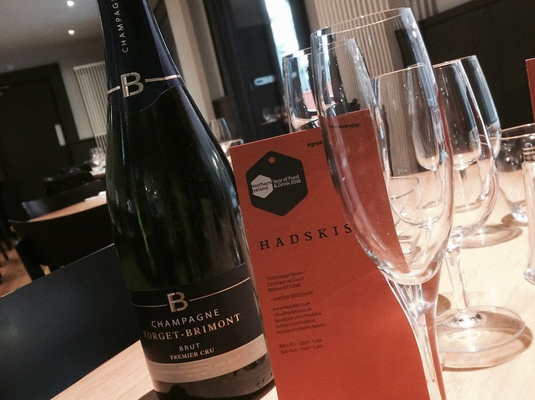 Win a bottle of Champagne in Hadskis!